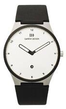 Danish Design IQ12Q884 White Dial Steel Leather Quartz Classic Men's Watch