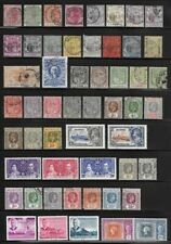 Collection of Old Stamps - MAURITIUS . . . . . .  3 pages