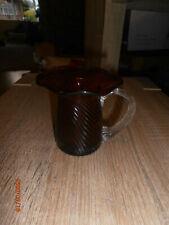 More details for fabulous vintage cranberry glass fluted twist milk jug vgc - free p&p