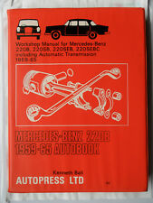 MERCEDES 220B WORKSHOP MANUAL 220SB 220SEB 220SEBC W111 FINTAIL 1959 - 1965 AUTO
