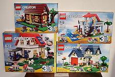 NEW LEGO 5766 5771 5891 7346 CREATOR HILLSIDE HOUSE APPLE TREE SEASIDE LOG CABIN