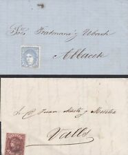 SPAIN TWO OLD INTERESTING COVER LETTER 1850s