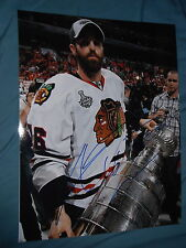 CHICAGO BLACKHAWKS ANDREW LADD SIGNED STANLEY CUP 11X14