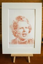 Portrait of Maggie. Matted and signed by the artist Gary Thompson