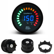 """2"""" 52mm Car Smoke Lens LED Digital / Analog Oil Temp Temperature Gauge Meter"""