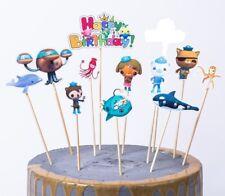 8 FIGURE The Octonauts Happy Birthday Cake Topper Stick Cupcake Dessert Decor Su