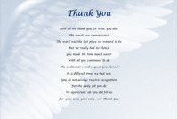 DOCTOR/NURSE GIFT - Hospital THANK YOU - Laminated gift *WRITTEN BY SELLER*