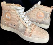 f8982f7abd5a Christian Louboutin High Top Python Sneaker Peach lace up new size 38