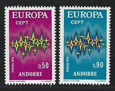 1972 Andorra (French) Scott #210-211 - EUROPA Set of 2 Stamps - MNH