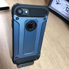 Apple iPhone 7 Case Rugged Composite Metal Design Inc Screen Protector Blue