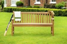 3 Seater Teak Wooden Garden Bench Outdoor Patio Seat Chair Solid Wood Furniture