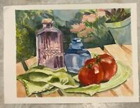 ORIGINAL Catherine Meyer Still Life Landscape Watercolor PAINTING SIGNED