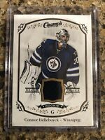 Connor Hellebuyck 2015-16 UD Champs Rookie Relics Jersey #J-CH Winnipeg Jets