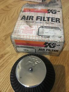 Classic Mini - Air filter Chrome tappered Offset hole HIF44 carburettor - K&N