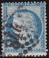 France 1871 Stamp YVERT 60C Type III Repub Franc 25c $$