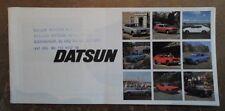 DATSUN RANGE 1975 UK Mkt Sales Brochure - 260Z 260C Laurel Six Bluebird Cherry