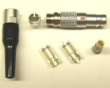 LEMO Größe 00 Miniatur - Stecker 2 Pole FGG.00.302 mit Knickschutz schwarz