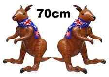 2 Inflatable Kangaroo & Australian Flag Jungle Fancy Dress Party Decoration 70cm