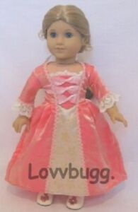 FULL Elizabeth Colonial Meet Gown Dress for American Girl 18 inch Doll Clothes🐞