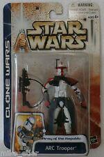 Star Wars Clone Wars ARC Trooper (Red) (Hasbro, 2003) New on Card