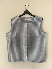Vintage 1960s Saks Fifth Avenue Button Up Vest Gray White Size Large