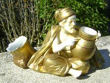 ANCIEN SUJET FIGURINE EN PORCELAINE BLANCHE ET OR ORIENTALISME N2870