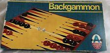 VINTAGE BACKGAMMON GAME ARROW GAMES LTD 1973 COMPLETE VGC