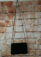 VTG La Regale Beaded Black Evening Bag