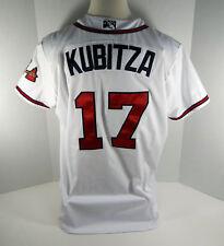2017 Gwinnett Braves Kyle Kubitza #17  Game Used White Jersey