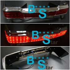 LED Chrome Tail Brake light Bar Fit Harley Davidson 97up Touring Electra Ultra