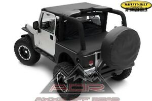 Fits 97-06 Jeep Wrangler Black Tonneau Duster Deck Cover NEW Jeep TJ Cover Top