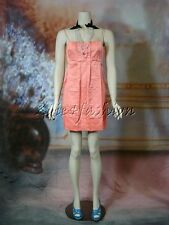 $1600 New MARC JACOBS Salmon Pink Formal Pleated Silk Polyester Mini Dress 12