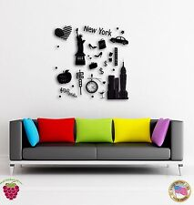 Wall Sticker New York Big Apple City United States The Coolest Decor (z1519)