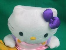 SANRIO HELLO KITTY SILKY PINK DRESS HOLDING TEDDY BEAR JAPAN PLUSH STUFFED