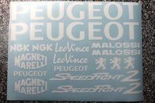 Peugeot Speedfight 2 Dekorsatz Aufkleber in weiß oder Wunschfarbe