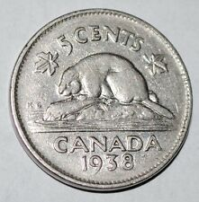 Canada 1938 5 Cents George VI Canadian Nickel