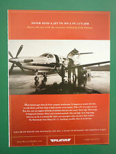 3/2005 PUB AVION PILATUS PC-12 BUSINESS AIRCRAFT FLUGZEUG ORIGINAL ADVERT
