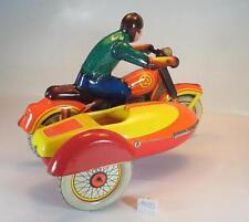 UDSSR USSR Blech Tin Toy Motorrad mit Beiwagen Uhrwerk-Aufzug #1403