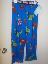 BOYS SIZE MEDIUM 6/8 MARVEL COMICS ROYAL BLUE LOUNGE PAJAMA PANTS NEW #2070