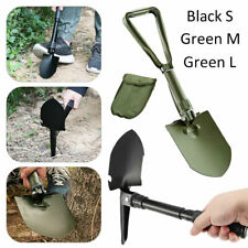 Folding Shovel Spade Pick Axe Camping Metal Detecting Mini Tool Army Green Black