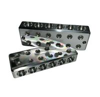 Pair ILL Customz 6 IN 6 OUT 1/0 AWG 0 Gauge Power and Ground Distribution Blocks