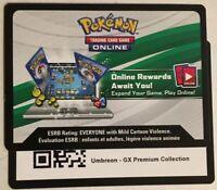 Pokemon TCGO Umbreon GX SM36 Premium Collection Box Code Card PTCGO *EMAILED*
