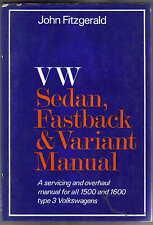 VW Volkswagen Sedan, Fastback & Variant Manual for Type 3 1500 & 1600 VWs