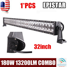 32inch 180W LED Work Light Bar Combo OffRoad SUV Lamp Car Light 4WD Truck Screw