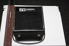 VINTAGE OMEGA TEMPERATURE ANALOG METER W/ PROBES LEATHER CASE MODEL T-151C MINTY