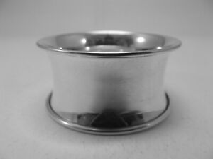 Excellent HM Silver Capstan Napkin Ring (616a) - Birm 1946 Sanders & Mackenzie