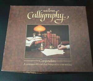 Vintage Sheaffer Calligraphy Compendium Pen Set With 3 Pens, Guide, Ink, Paper +