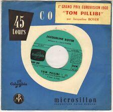 """JACQUELINE BOYER """"TOM PILLIBI"""" EUROVISION 1960 SP COLUMBIA 390"""