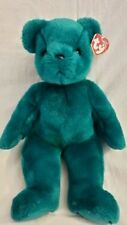 Ty Teal Old Face Teddy 4th G w/ embroired Tush Tag Near Mint Beanie Buddy