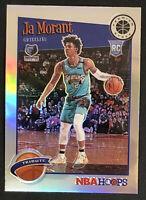 2019-20 NBA Hoops Premium Stock Ja Morant Rookie SILVER PRIZM Tribute RC # 297